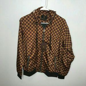 Other - Louis Vuitton Brown Windbreaker Jacket